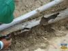 Schaden an der Wasserleitung für die Baumschule